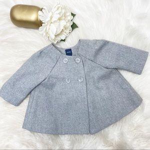 Baby Gap Girls Gray Wool Blend Peacoat